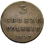 Медная монета 3 гроша Александра 1 (для Польши)